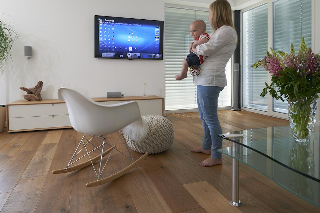 Das Interface der domovea kann auch ganz komfortabel auf dem Fernseher genutzt werden