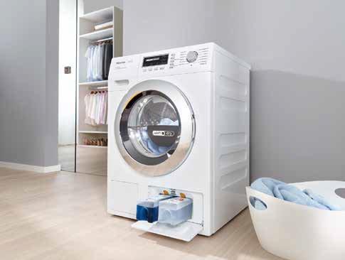 Mieles Waschmaschinen nutzen clevere Cartridges. Die gewohnte Waschmittelschublade gibt es natürlich auch noch