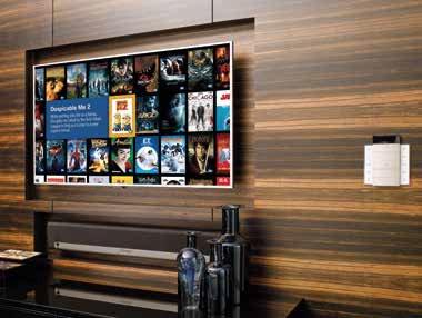 Bestens integriert: TV und die Soundbar von Sonos