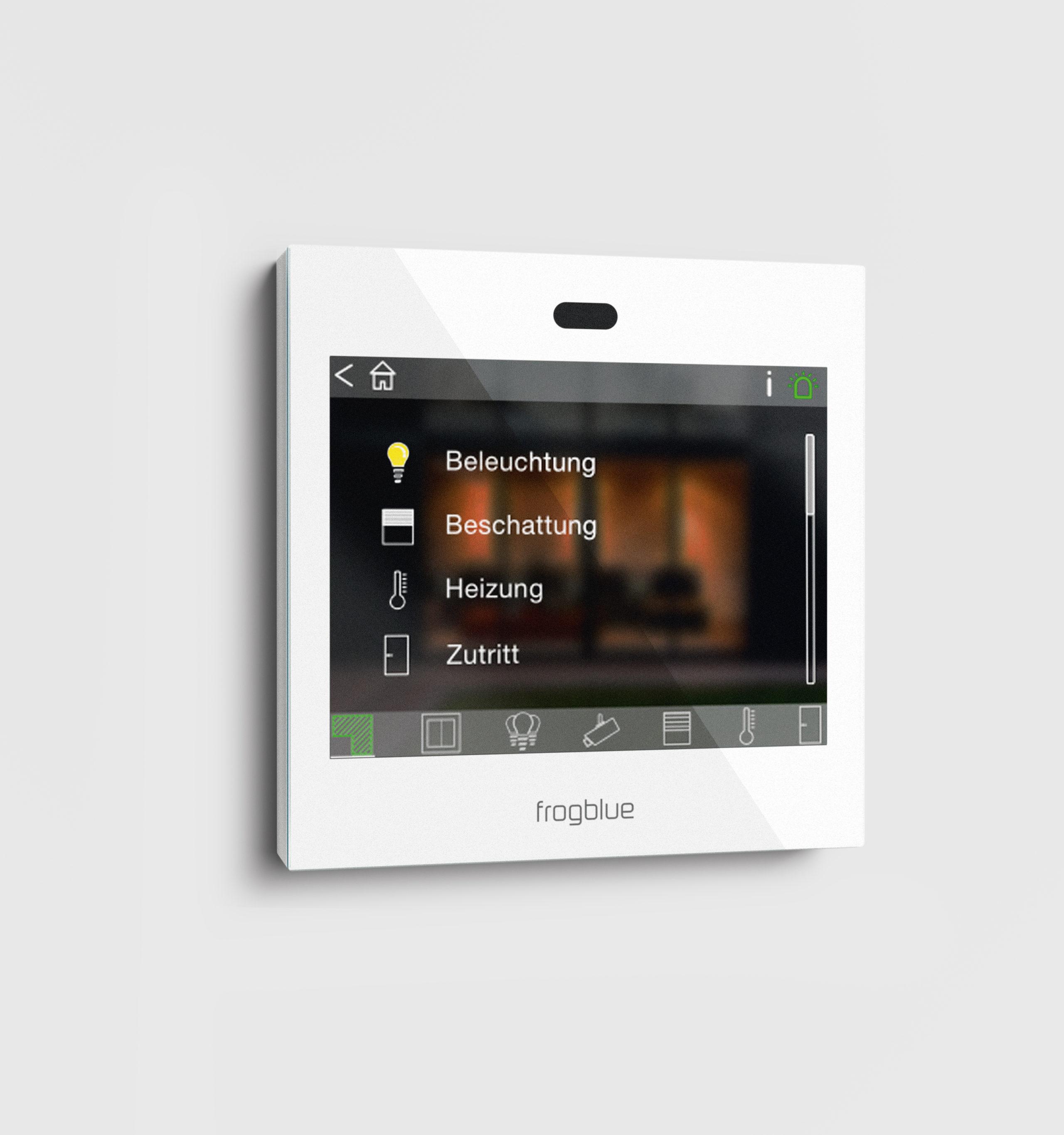 """cubes heißen die """"oberirdischen"""" Komponenten wie hier das Videomodul, mit dem sich das Smart Home bequem bedienen lässt"""