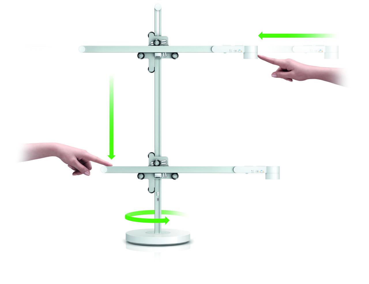 Dyson Lightcycle ist maximal flexibel und mit einem Fingertipp verstellbar