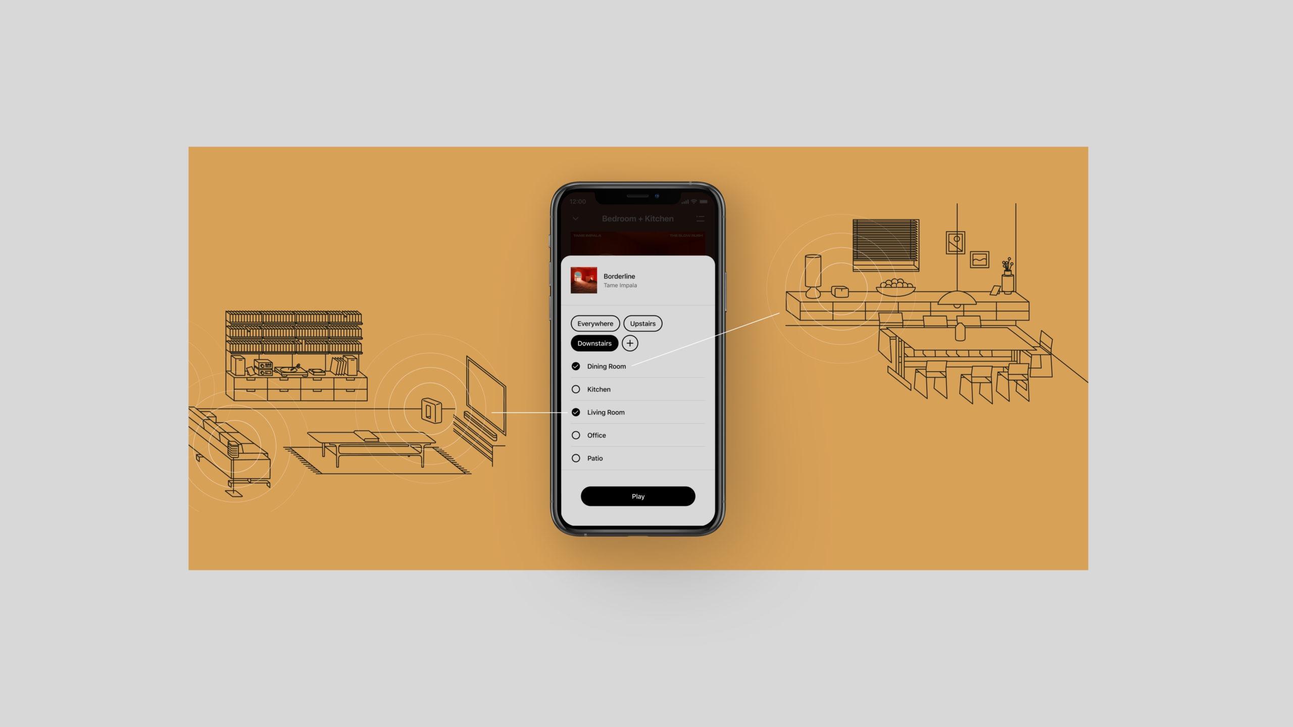 Mit dem Launch des Sonos Arc dürfte dann auch die neue Version der Sonos-App an den Start gehen, die es unter anderem ermöglicht, Raumgruppierungen zu speichern und leicht wieder abzurufen