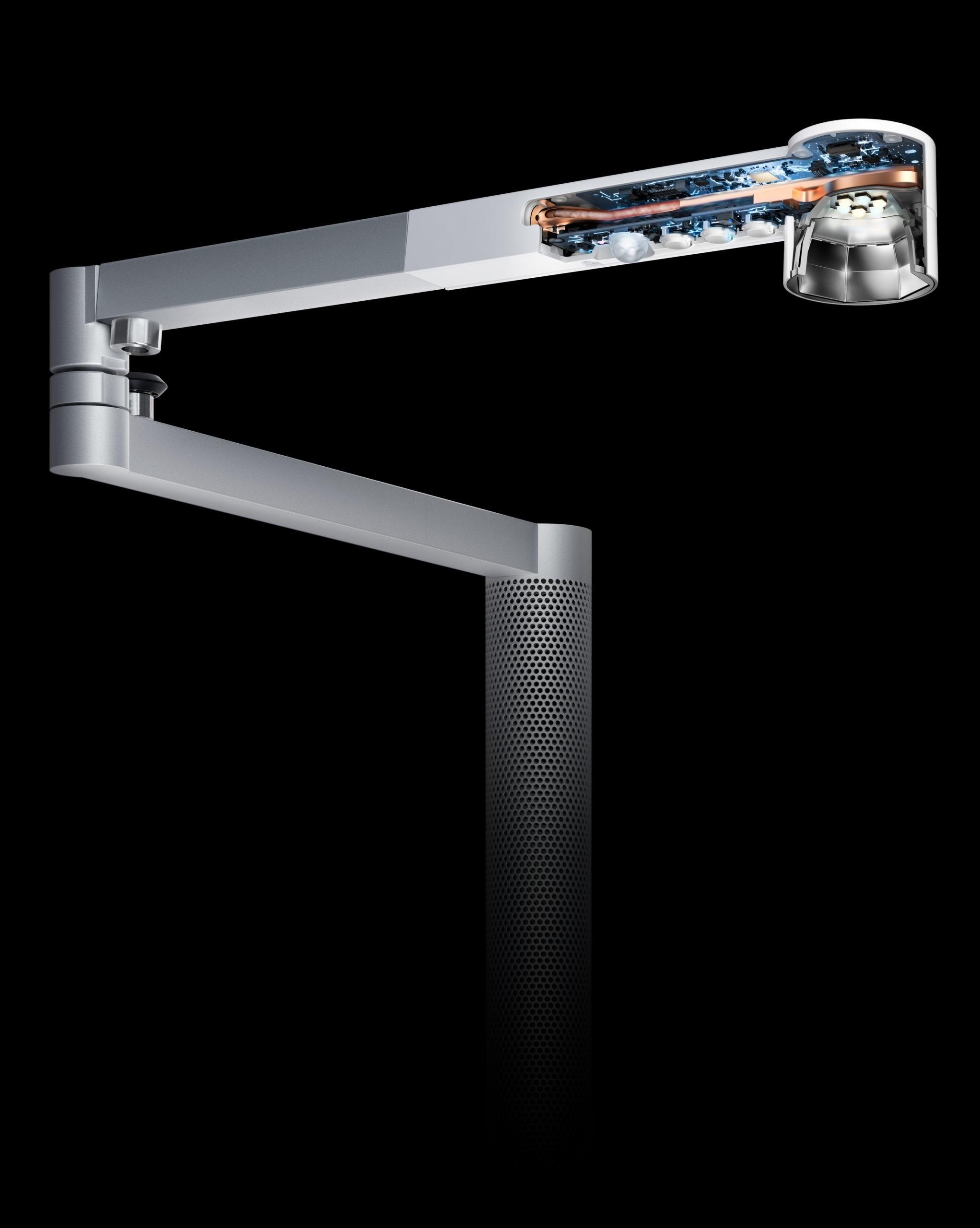 Dysons Heat Pipe Technologie führt die Wärme von den LEDs ab